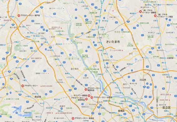 朝霞ベーカリー地図